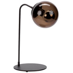 Oil Rubbed Bronze with Smoke Glass Shade Table Lamp, Roll & Hill