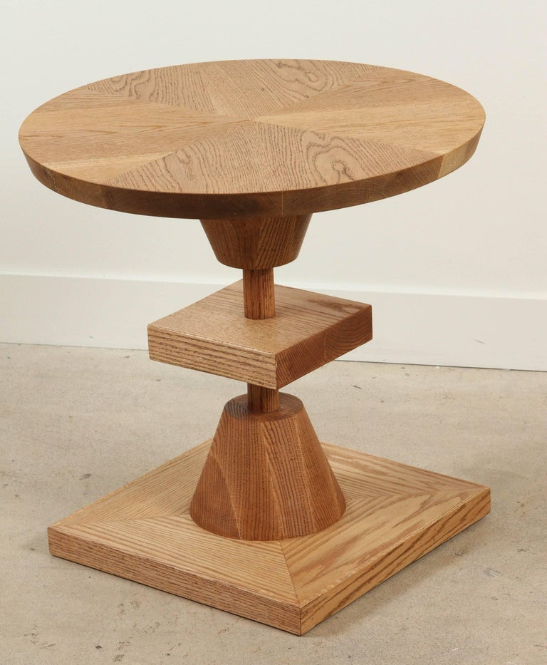 Contemporary Oiled Oak Morro Table by Lawson-Fenning For Sale