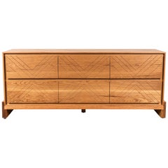 Oiled Oak Platform Chest by Lawson-Fenning