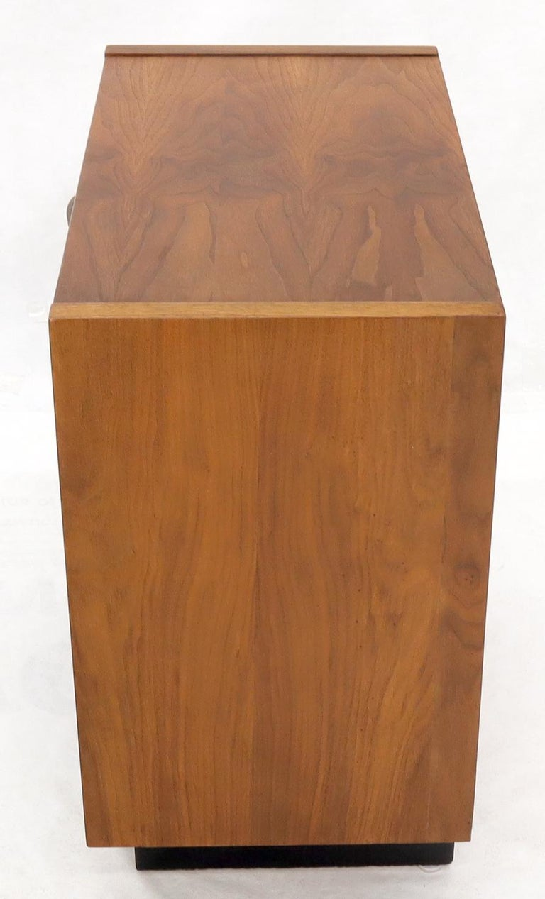 Oiled Walnut Tilt Front Door End Side Table Record Cabinet For Sale 5