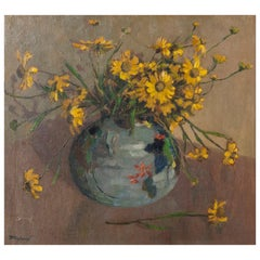 Oilpainting with Flowers by Henri Michaux