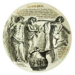 Oinochoe Plate for Martini & Rossi, by P. Fornasetti, 1960s