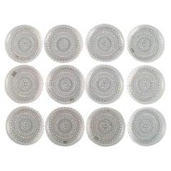 Oiva Toikka for Arabia, Set of 15 Kastehelmi Coasters in Clear Art Glass