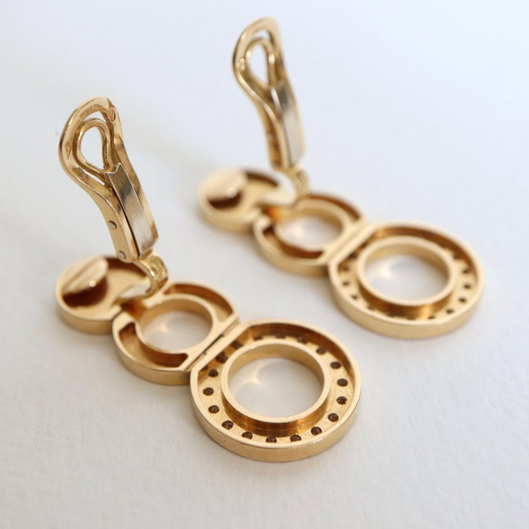 O.J. Perrin Set of a Necklace and Earrings in 18 Carat Gold and Diamonds For Sale 1