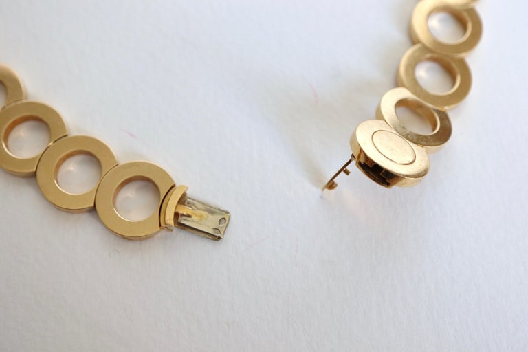 O.J. Perrin Set of a Necklace and Earrings in 18 Carat Gold and Diamonds For Sale 3