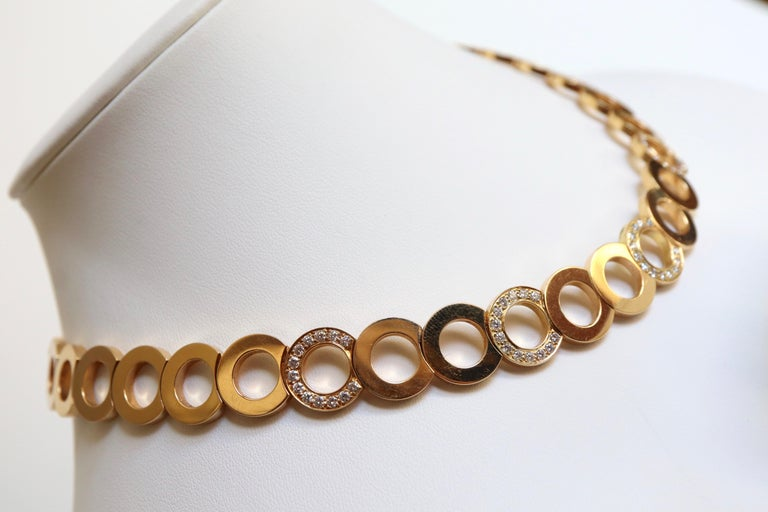 O.J. Perrin Set of a Necklace and Earrings in 18 Carat Gold and Diamonds For Sale 5