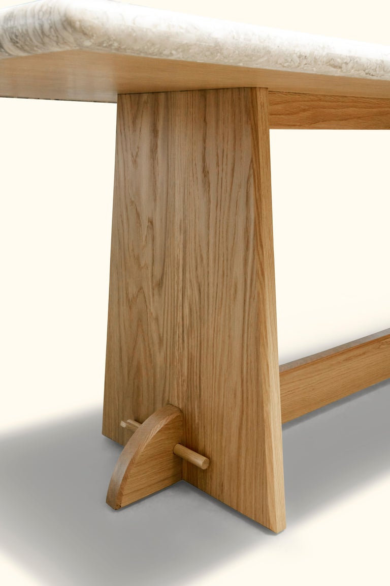 Travertine Ojai Dining Table by Lawson-Fenning For Sale