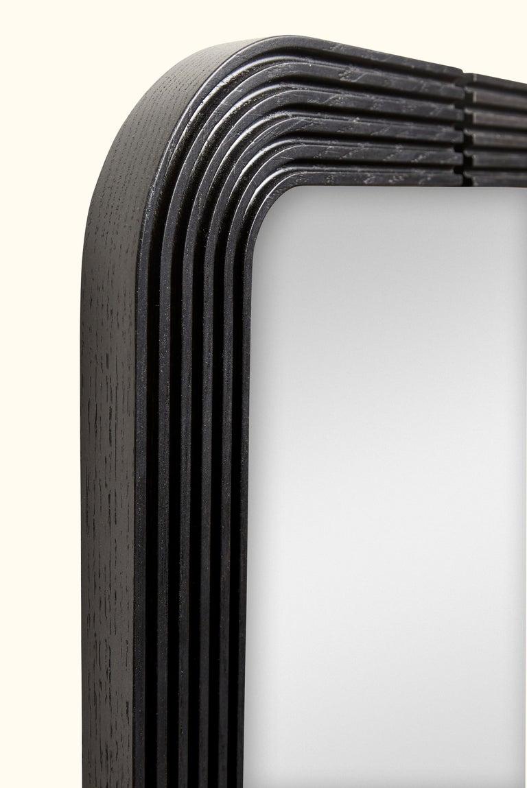 Ebonized Ojai Floor Mirror by Lawson-Fenning For Sale