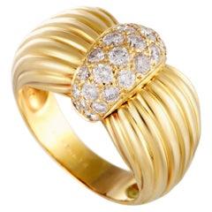 O.J.Perrin 18 Karat Yellow Gold Diamond Pave Band Ring