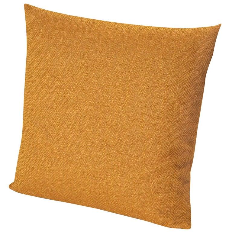 For Sale: Orange (1O4CU00729-40) Ojus Small Chevron Yarn-Dyed Cushion by MissoniHome