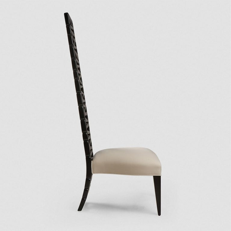 Okawa Chair in Solid Mahogany Wood In New Condition For Sale In Paris, FR