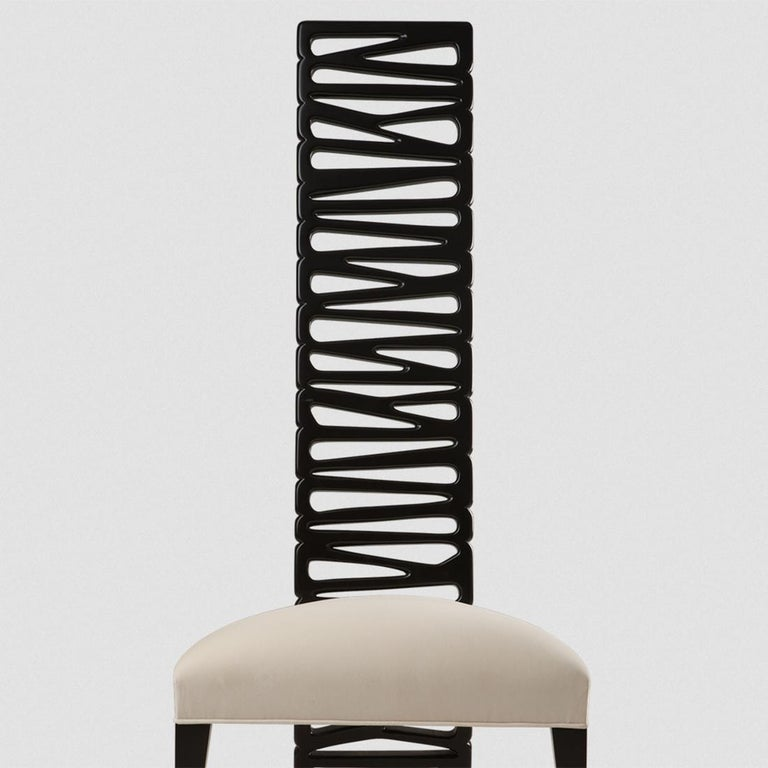 Contemporary Okawa Chair in Solid Mahogany Wood For Sale