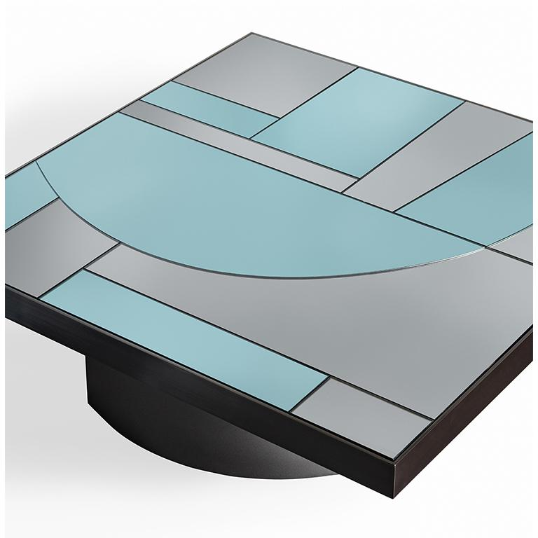 Other Okeanos Contemporary Coffee Table in Marble and Brass For Sale