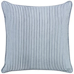 O'Keefe Hand Embroidered Striped Pillow by CuratedKravet