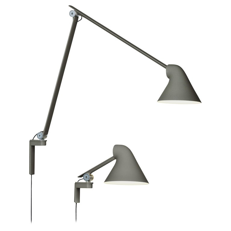 Oki Sato NJP Gray Large Wall Light for Louis Poulsen For Sale
