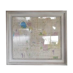 Oklahoma City Map in Large Frame, 1977