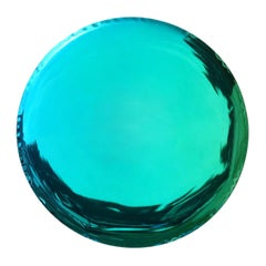 Oko 150 Emerald and Sapphire Gradient Color Stainless Steel Wall Mirror by Zieta