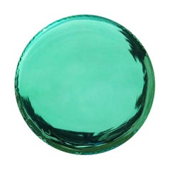 Oko 150 Polished Emerald Color Stainless Steel Wall Mirror by Zieta
