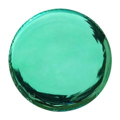 Oko 36 Polished Emerald Color Stainless Steel Wall Mirror by Zieta