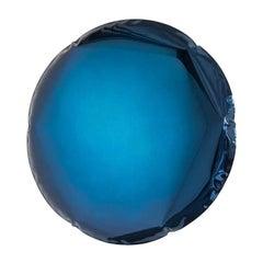 Oko 62 Deep Space Blue Color Stainless Steel Wall Mirror by Zieta