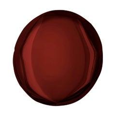 Oko 75 Rubin Red Color Stainless Steel Wall Mirror by Zieta