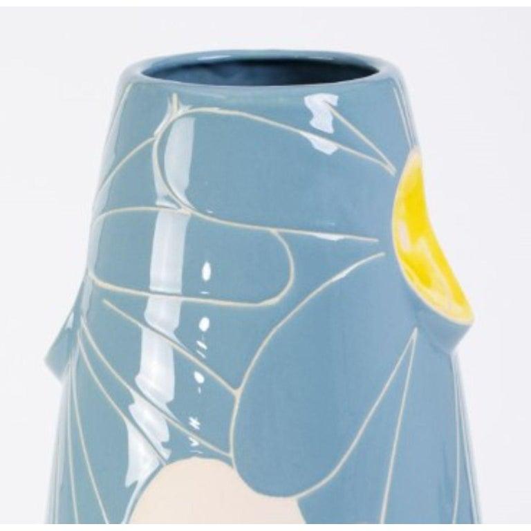 Modern Oko Pop Ceramic Vase by Malwina Konopacka For Sale