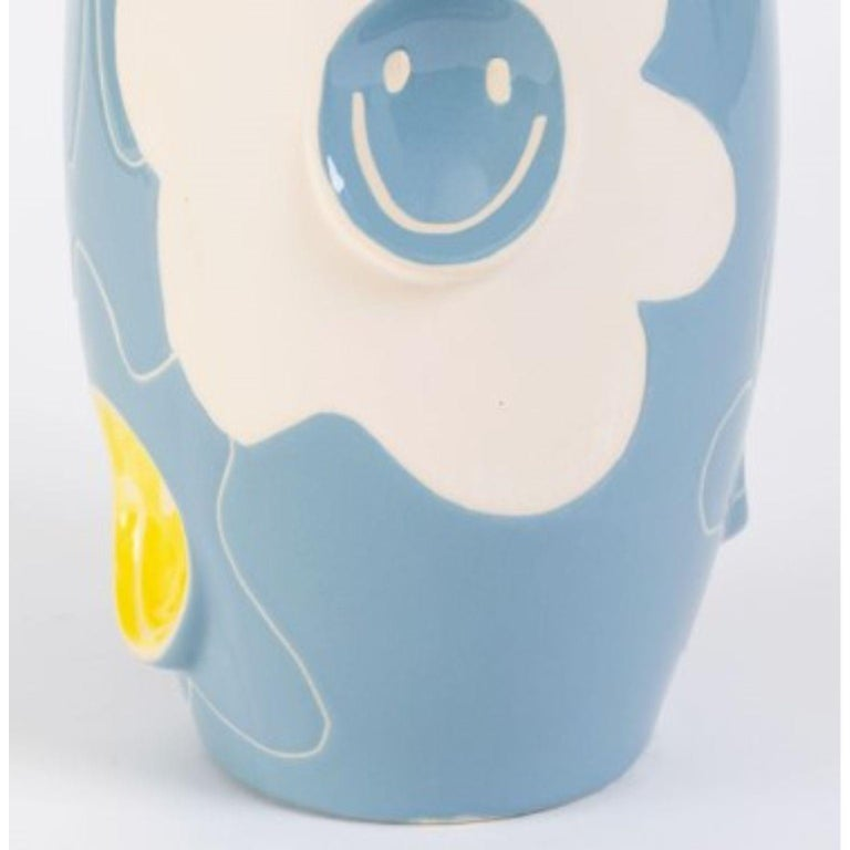 Oko Pop Ceramic Vase by Malwina Konopacka In New Condition For Sale In Geneve, CH