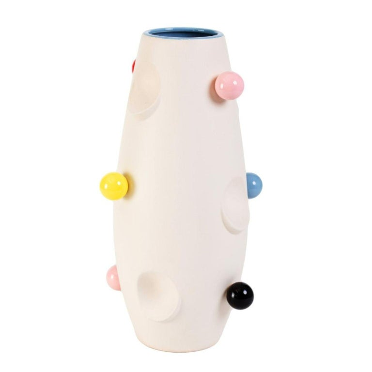 Oko Pop Ceramic Vase, Circus by Malwina Konopacka In New Condition For Sale In Geneve, CH