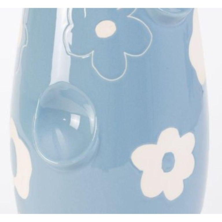 Contemporary Oko Pop Ceramic Vase, Denim Daisy by Malwina Konopacka For Sale