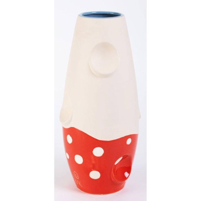 Modern Oko Pop Ceramic Vase, Mushroom by Malwina Konopacka For Sale