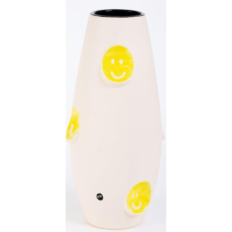 Contemporary Oko Pop Ceramic Vase, Smiley by Malwina Konopacka For Sale