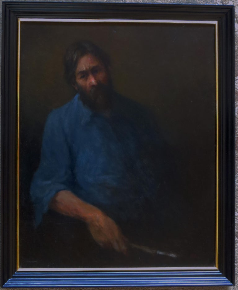 Self Portrait - Painting by Olaf Palm