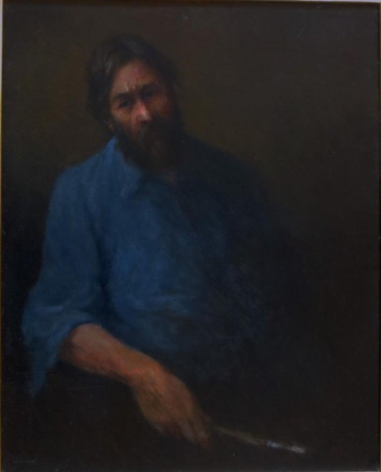 Olaf Palm Portrait Painting - Self Portrait