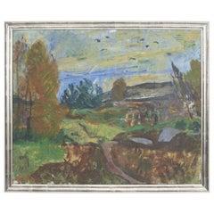 Olaf Rude, Landscape Painting, Bornholm, Denmark