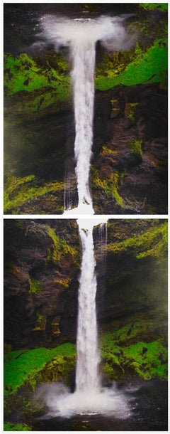 Contact is Content at Seljalandsfoss, 2 C-Prints, Diptych, Color Photography