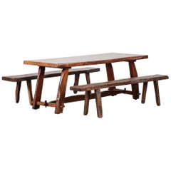 Olavi Hanninen Dining Room Set, Table and Benches