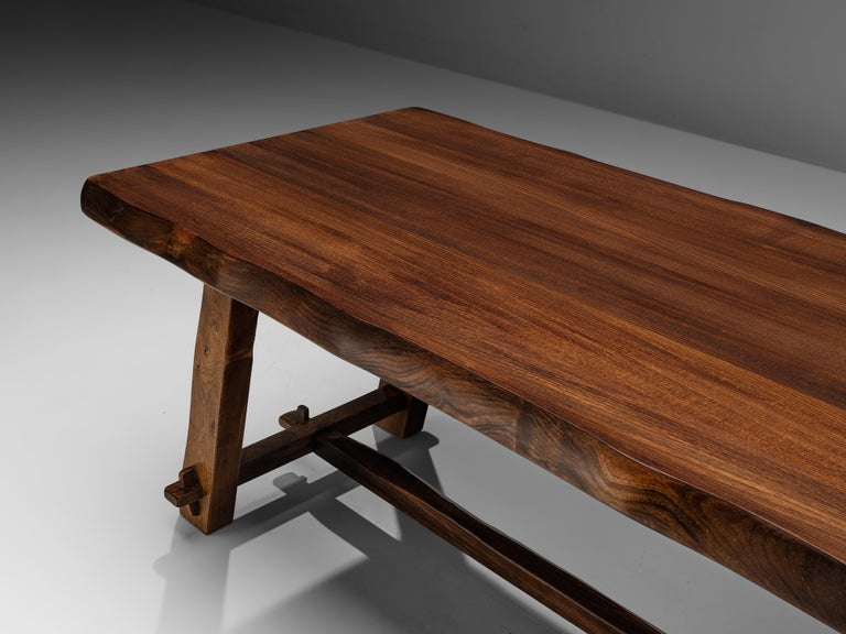 Olavi Hanninen Rustic Dining Table in Solid Elm For Sale 1