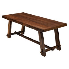 Olavi Hanninen Rustic Dining Table in Solid Elm