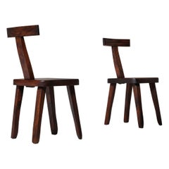 Olavi Hänninen Side Chairs in Stained Elm