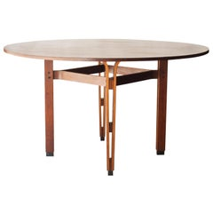 'Olbia' Table Ico Parisi by MIM Midcentury Round Rosewood Italian, 1958