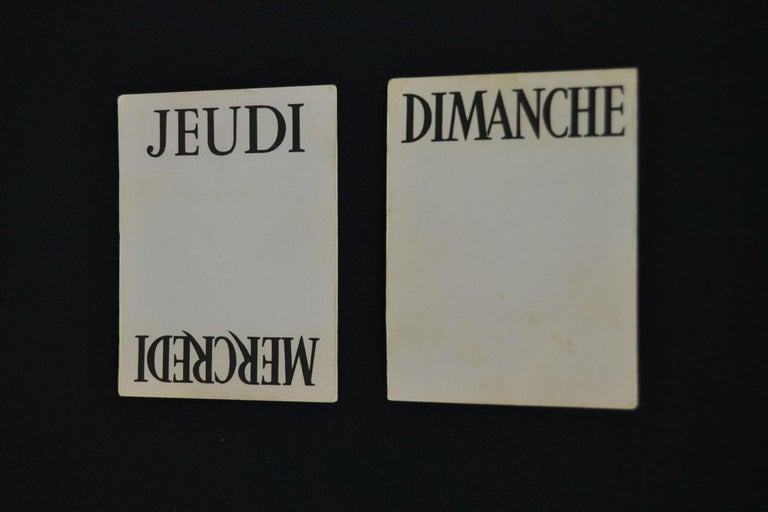 Old Advertising Sign with Calendar for French Wine For Sale 7