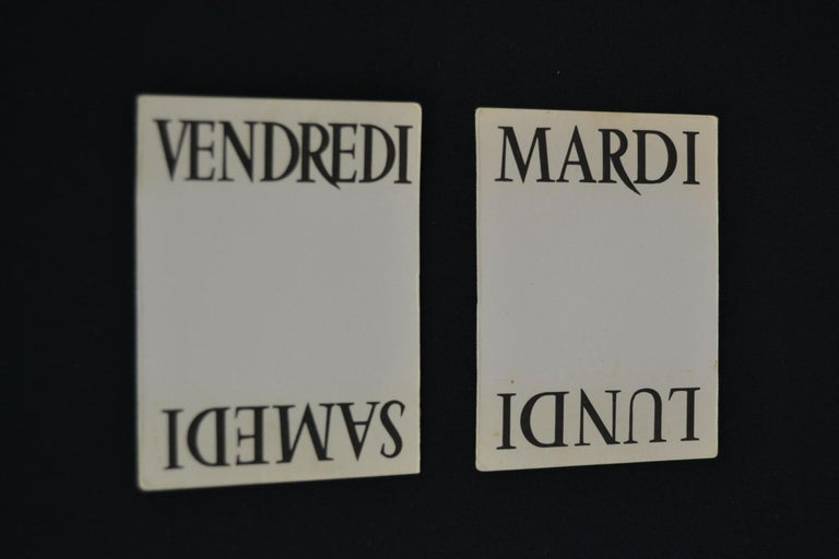 Old Advertising Sign with Calendar for French Wine For Sale 8