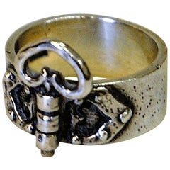 Old and Petite Silver Ring with a sweet Heart in the Front 1923, Sweden