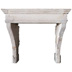 Old Antique Fireplace of French Limestone