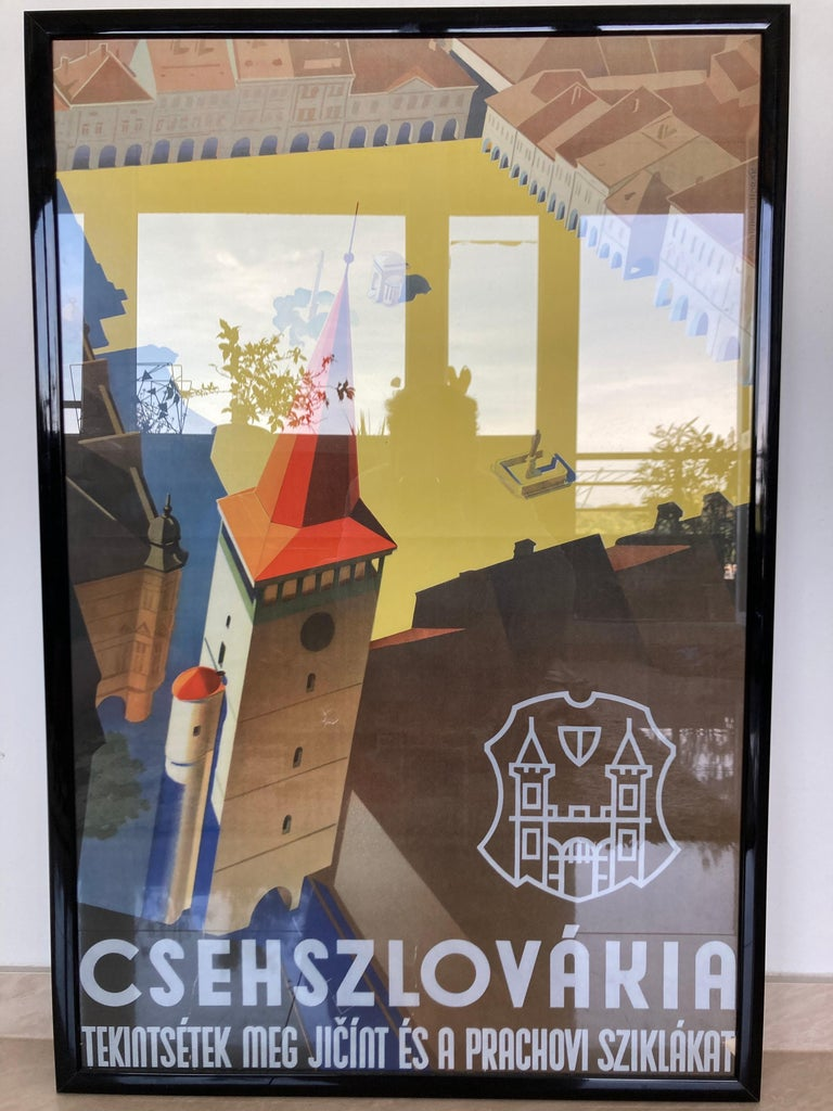 Old Art Deco Advertising Poster, 1930s In Good Condition For Sale In Praha, CZ
