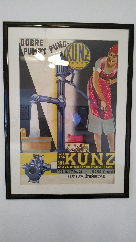 - 1930s - Original poster, framed - Multicolored - Printed in Prague by Melantrich.