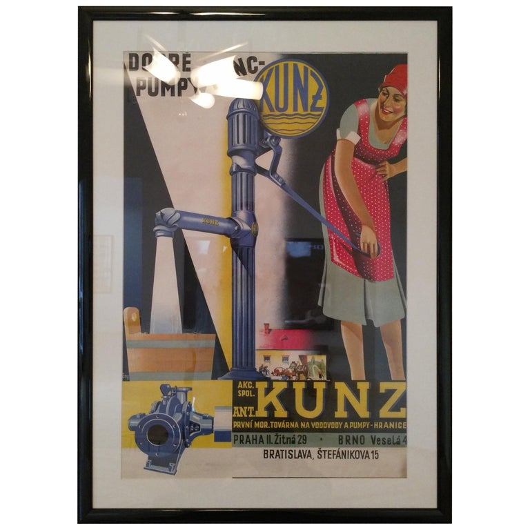 Old Art Deco Advertising Poster For Sale