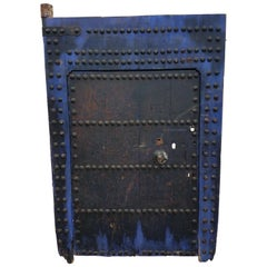 Old Blue Black Moroccan Door, White Back
