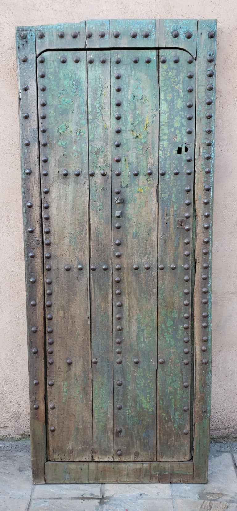Another amazing single panel Moroccan door measuring approximately 84