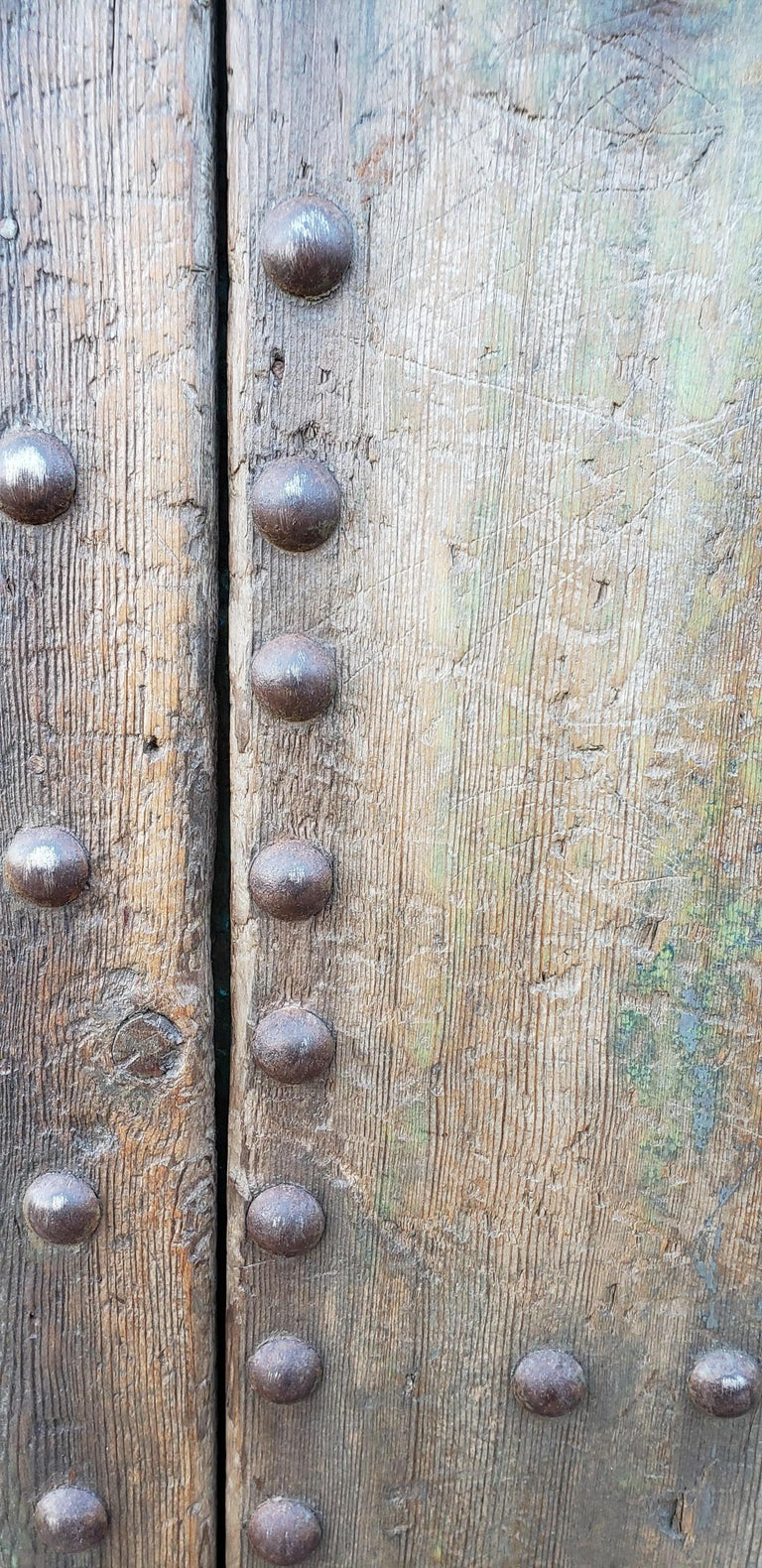 Old Blue Moroccan Wooden Door, 23MD35 For Sale 1